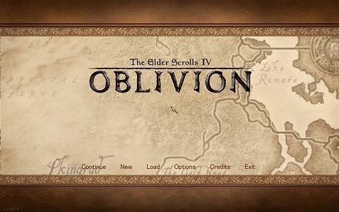 Oblivion タイトル画面