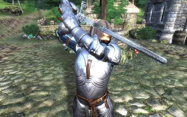 Wyrmfang Swordを構えたところ
