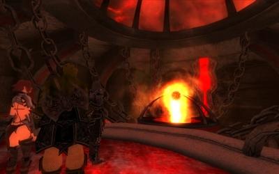 3人でOblivion Gateの中へ、そしてSigil Stoneの許へ