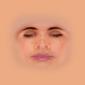 Humanパンダ抑制テクスチャの「Human - FaceFemale.dds」