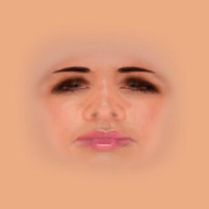 USMの彩花さん(コンパニオン・キャラクタ)用に調整された「Human - FaceFemale.dds」