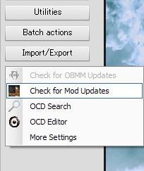 "Extended Utilitiesからアクセスできる""Check for Mod Updates""機能"