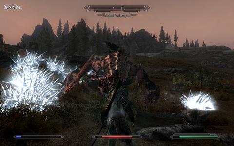 Dragonと対峙するプレイヤー
