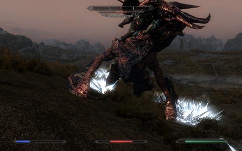 Dragonはより硬く、その攻撃はより痛く。設定如何ではドラゴンに咥えられ死を遂げるプレイヤー・キャラクタの姿を何度も拝むことに
