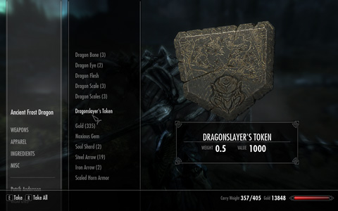 """""""小さなメダル""""的なアイテム、「Dragonslayer's Token」"""