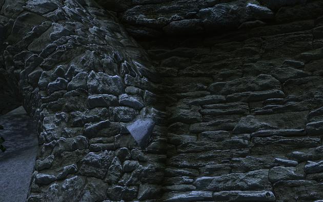 QTP3を入れ、OBGEv3のいくつかのEffectも効かせてみた。砦の石壁の立体感がすごいなーと感じた。