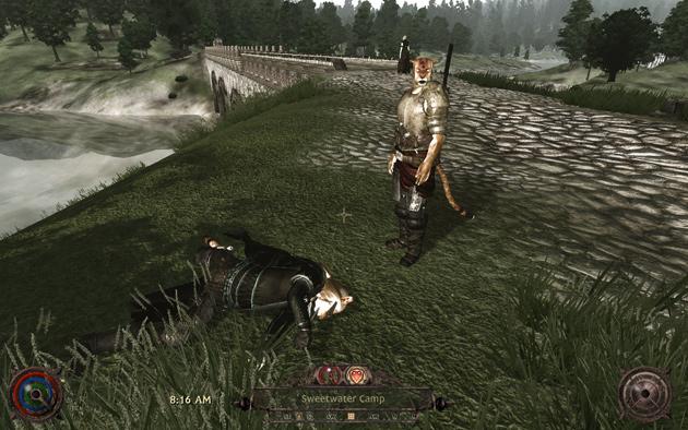 プレイヤー・キャラクタの前に力及ばず、あえなく命を落としたHighwayman