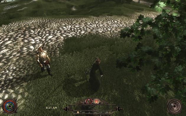 すると、プレイヤーが鍬(くわ)で穴を掘るアニメーションが再生される