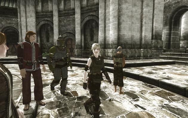 Talos Plaza地区をcompanionとともに練り歩き中、少しは顔も知られてきましたかね。