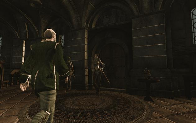 邸宅に入ると間をおかずに、執事のJollringがplayerの許へ、つかつかと歩み寄ります。