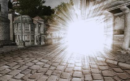 「Summon Oblivion Portal」を詠唱すると、Oblivion Realmへのポータルが開く。