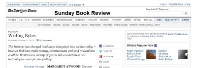 NYTimes.com、ウェブページのキャプチャ