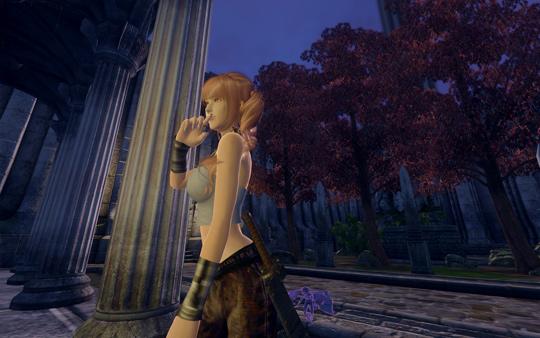 Etsu、Imperial City Arena近くの広場にて。夜。