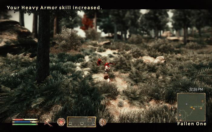 森でCreatureと戦うTsubaki