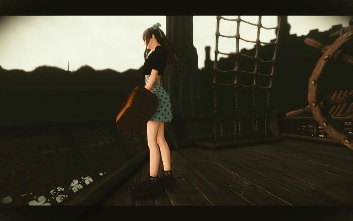 小さいほう(のTsubaki)、帝都 Waterfront の船のデッキにて