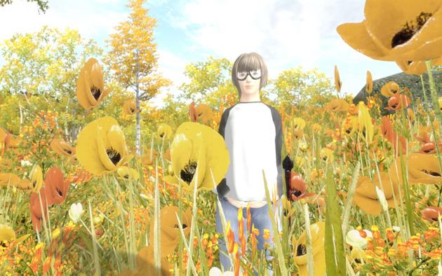 Leyawiinほど近くで、花々に囲まれて